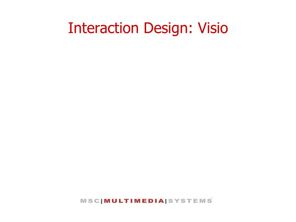 Interaction Design: Visio