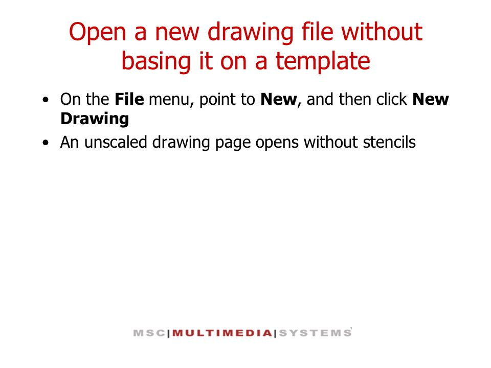 Open a new drawing file without basing it on a template
