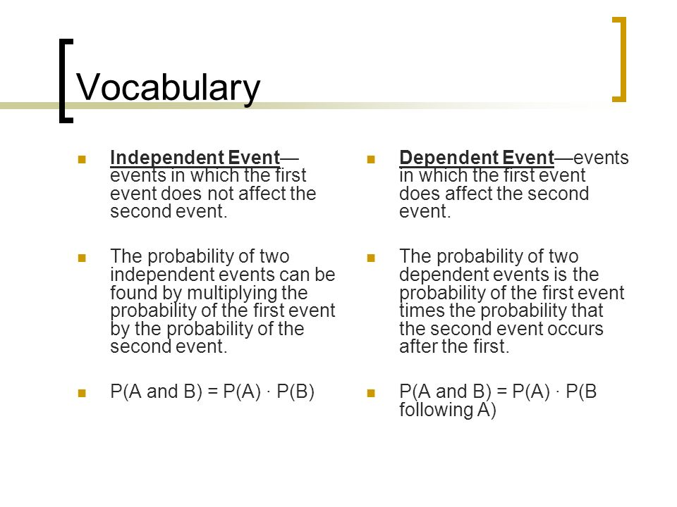 Independent and Dependent Events ppt video online download – Independent and Dependent Events Worksheet Answers