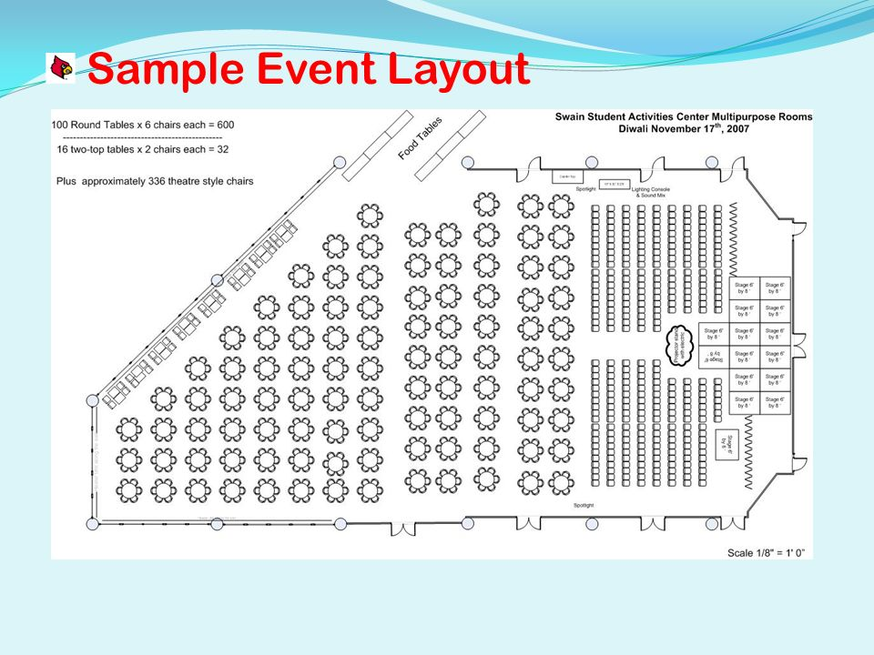 Sample Event Layout
