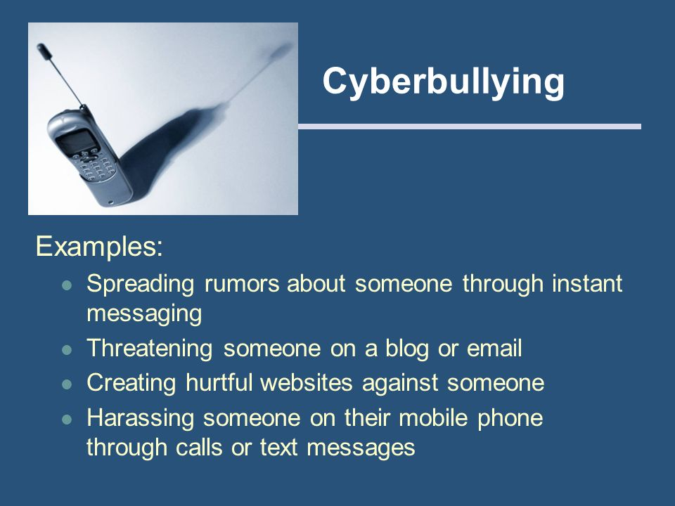 Cyberbullying Examples: