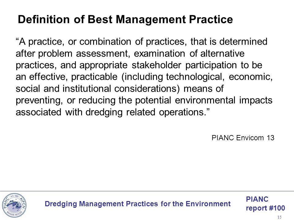 Definition of Best Management Practice