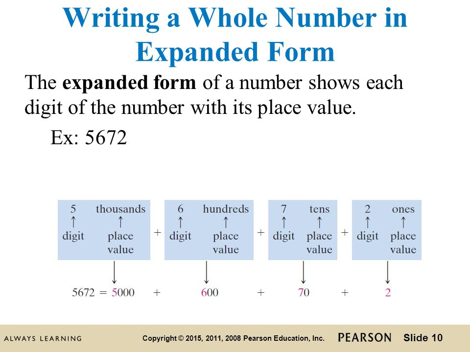 writing numbers in expanded form examples These labels are made explicit when we write numbers in expanded form  for  example, a common error is to enter two digits into a single column when.