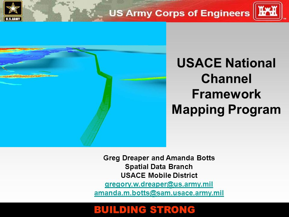 USACE National Channel Framework Mapping Program