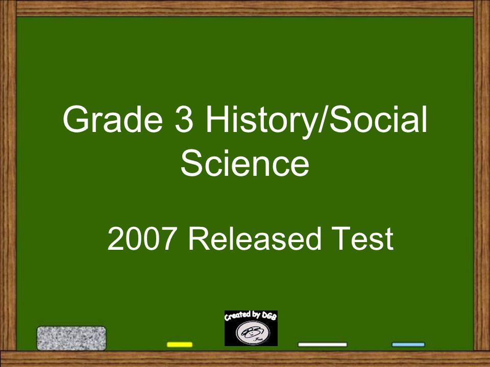 Grade 3 History/Social Science