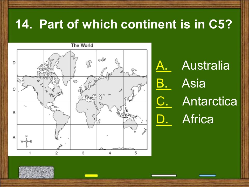 14. Part of which continent is in C5