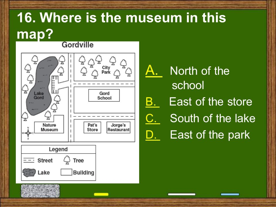 16. Where is the museum in this map