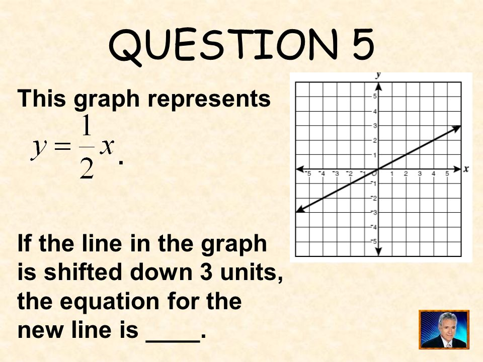 QUESTION 5 This graph represents . If the line in the graph