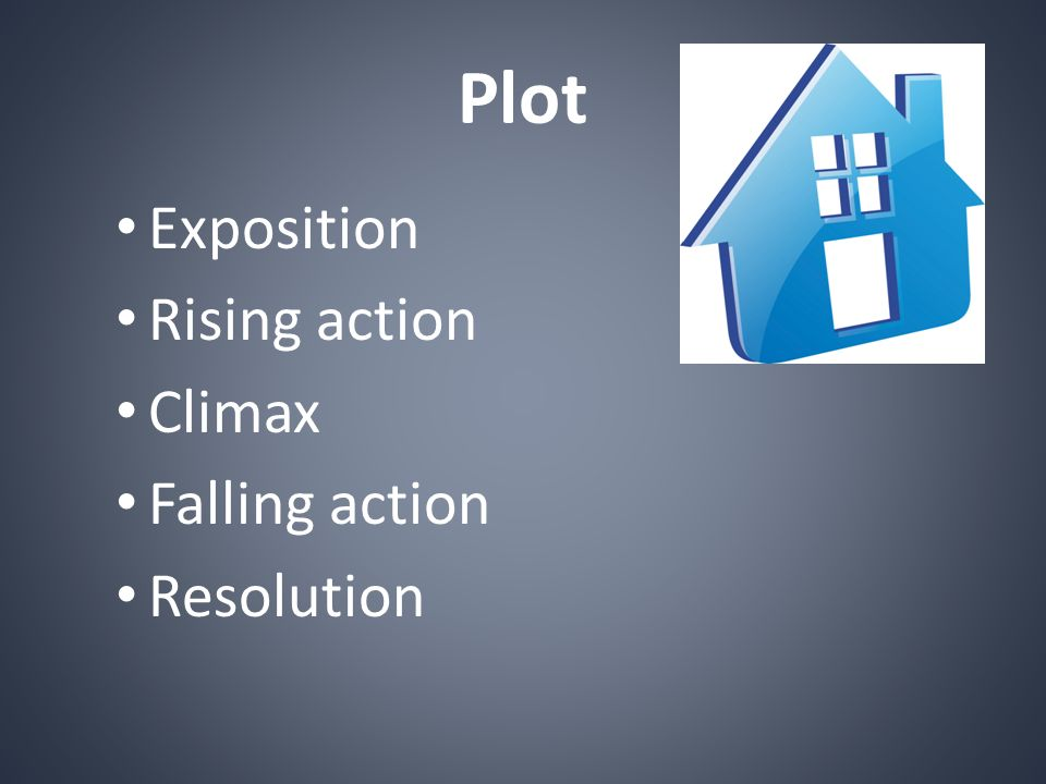 Plot Exposition Rising action Climax Falling action Resolution