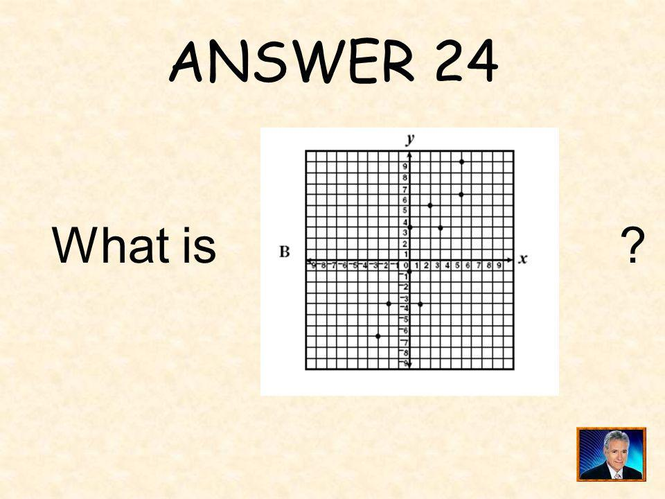 ANSWER 24 What is