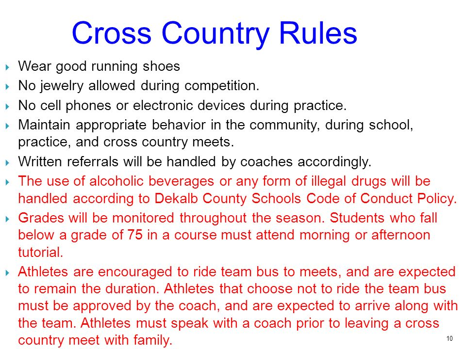 10 Cross Country Rules Wear Good Running Shoes