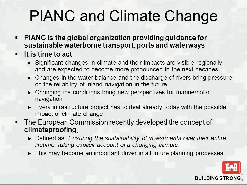 PIANC and Climate Change