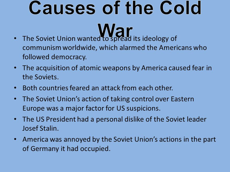 cold war summary