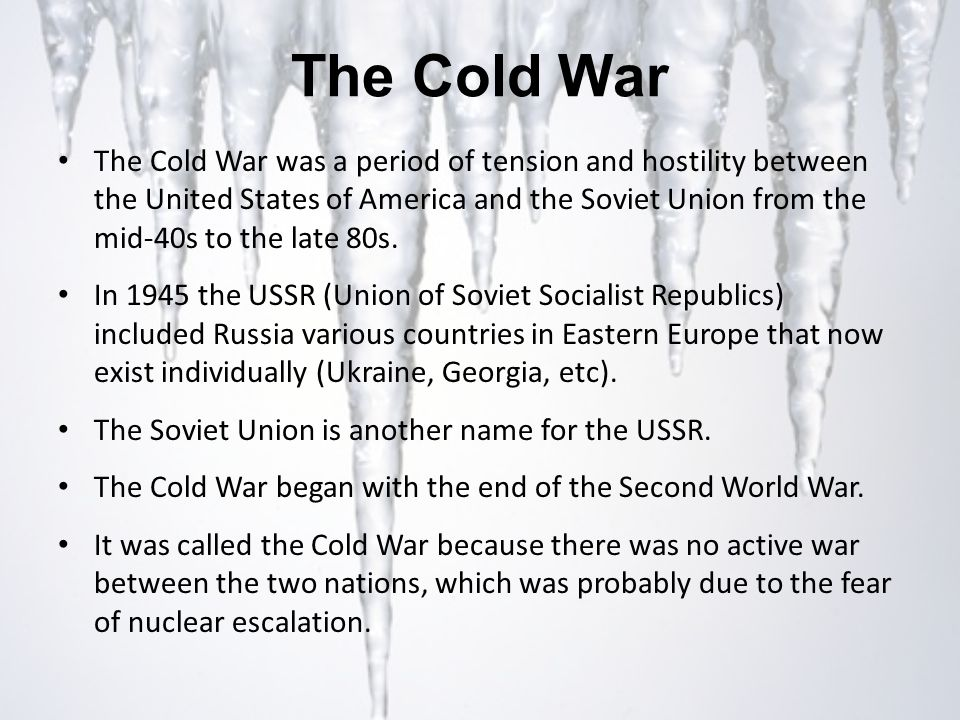 relationship between usa and ussr during cold war