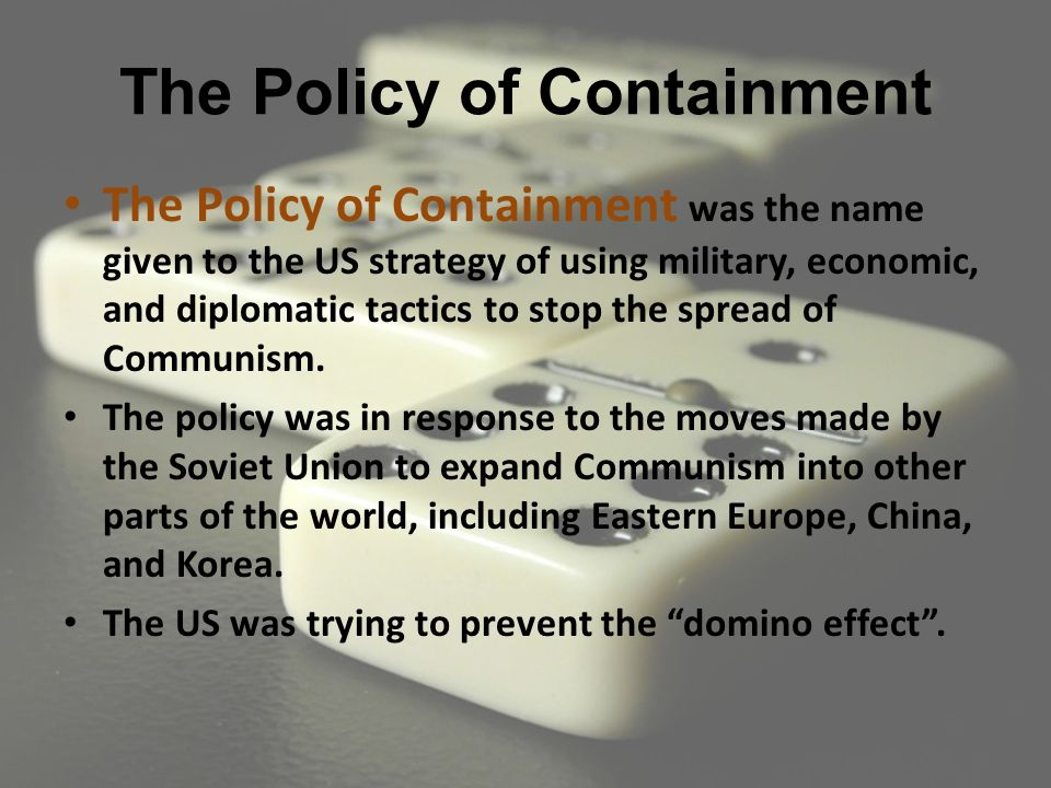 us policy of containment essay