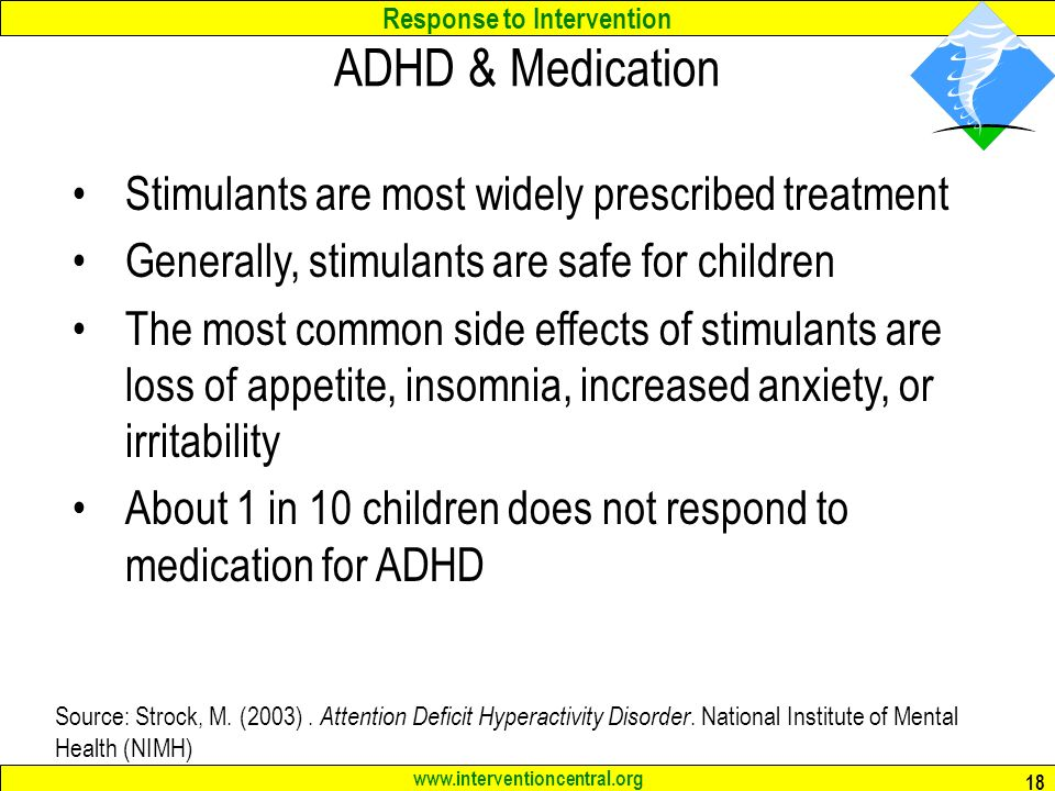 the effects of stimulants on adhd children There are many stimulants available to treat adhd: short acting, intermediate-acting, and long-acting forms the short-acting forms are usually taken two or three times a day, and the long-acting ones just once a day.