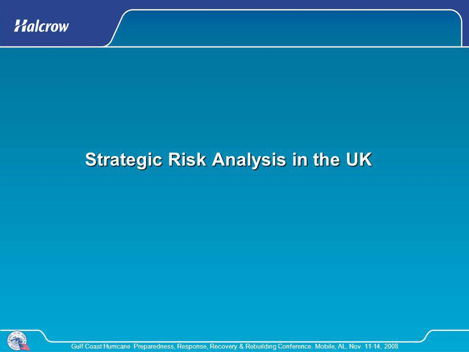 Strategic Risk Analysis in the UK