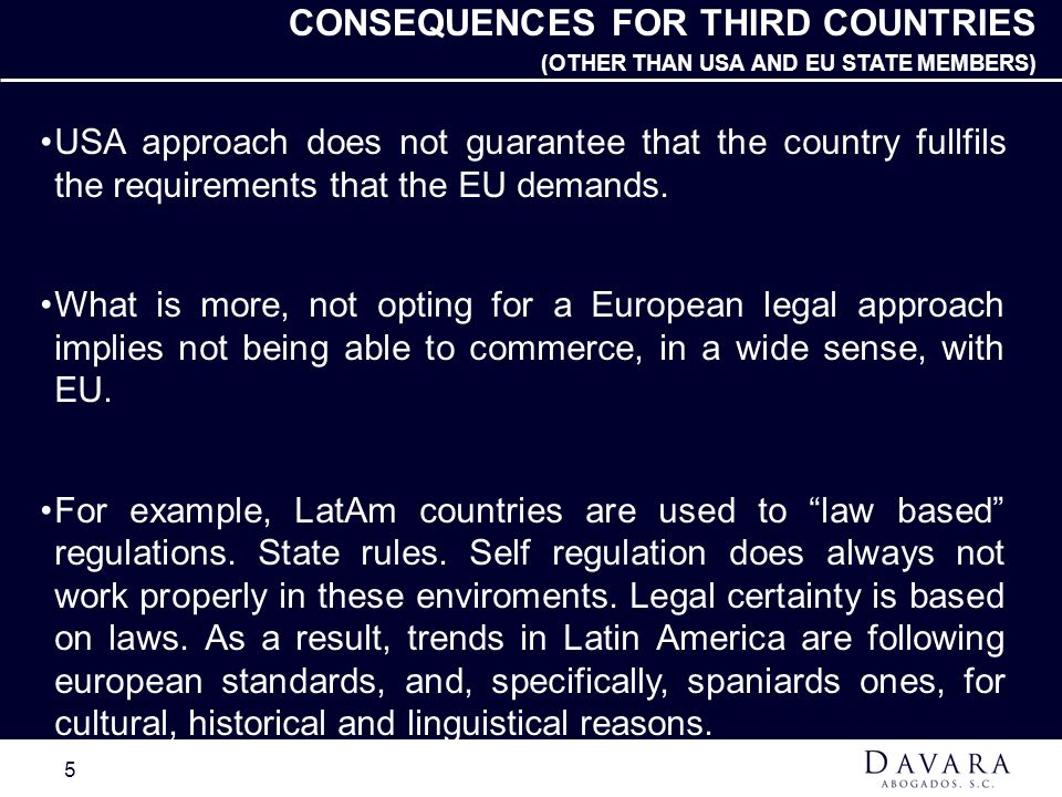 CONSEQUENCES FOR THIRD COUNTRIES