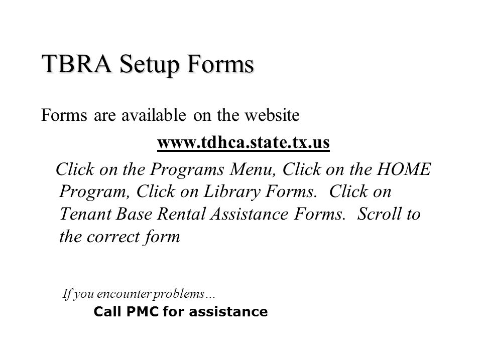 Home Program Tenant Based Rental Assistance  Ppt Download