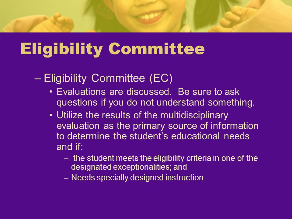 Eligibility Committee