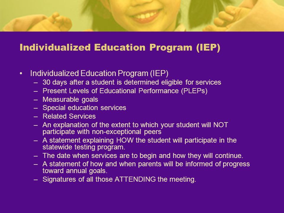 Individualized Education Program (IEP)