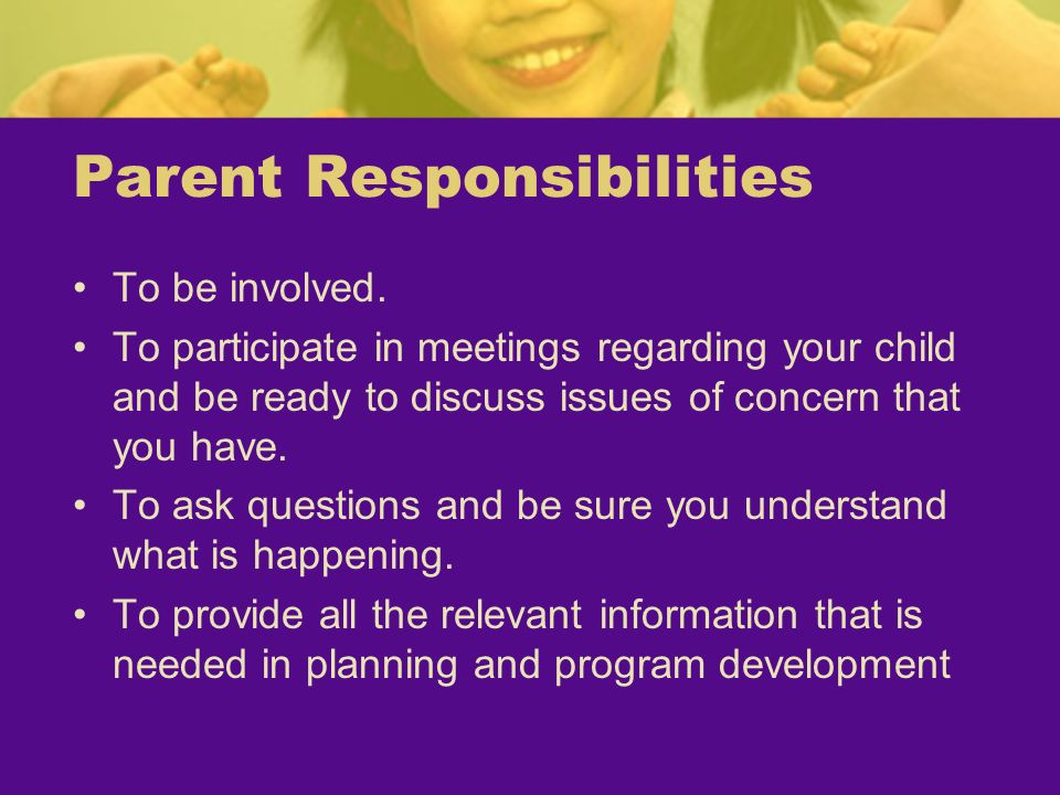 Parent Responsibilities