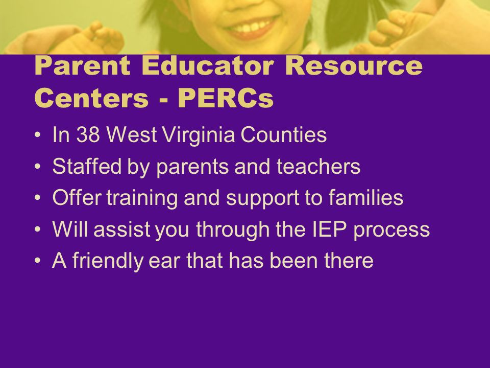 Parent Educator Resource Centers - PERCs