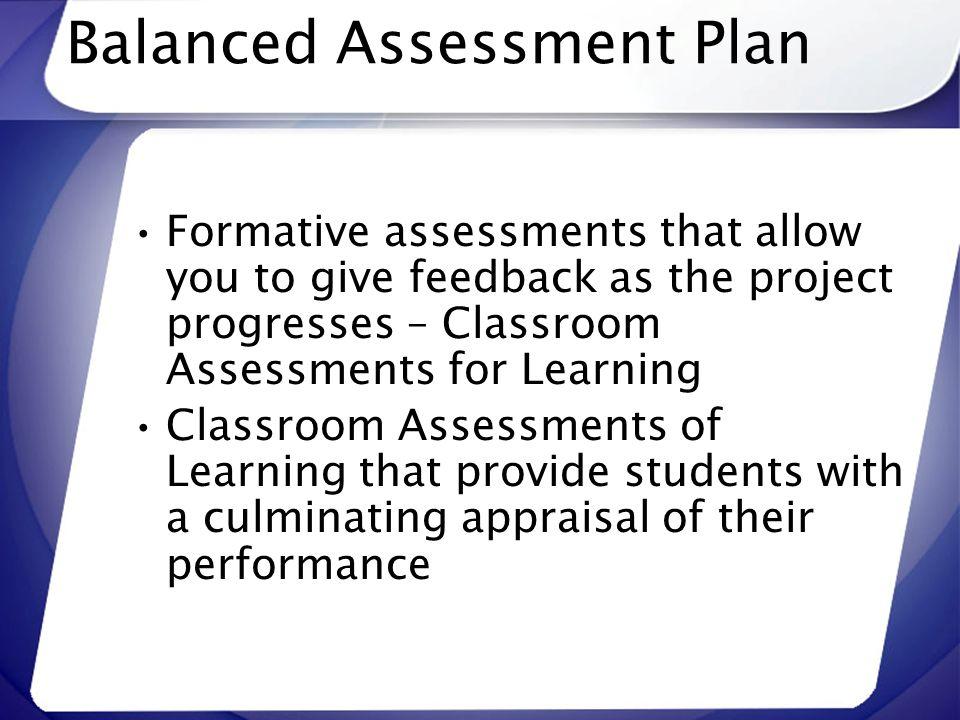Balanced Assessment Plan
