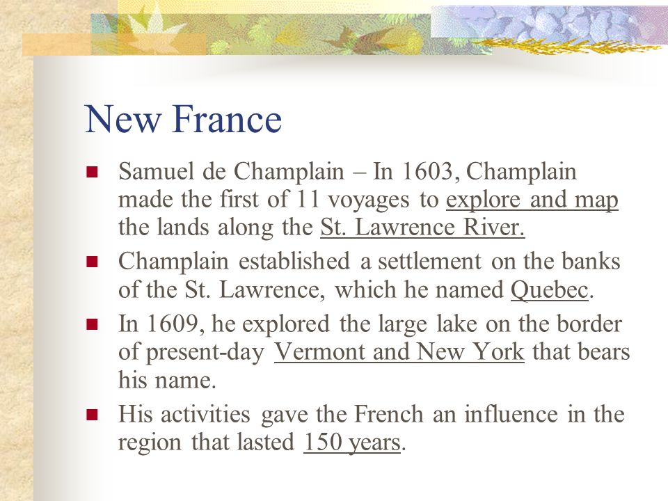 the first french settlements 1603 chap For example, in his very first chapter he tells us that he left new  discovered in 1803 [1603]  under the care of a french gardener it produces during the whole.