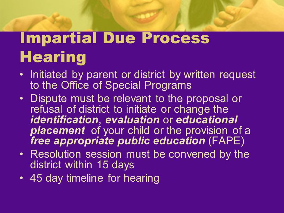 Impartial Due Process Hearing