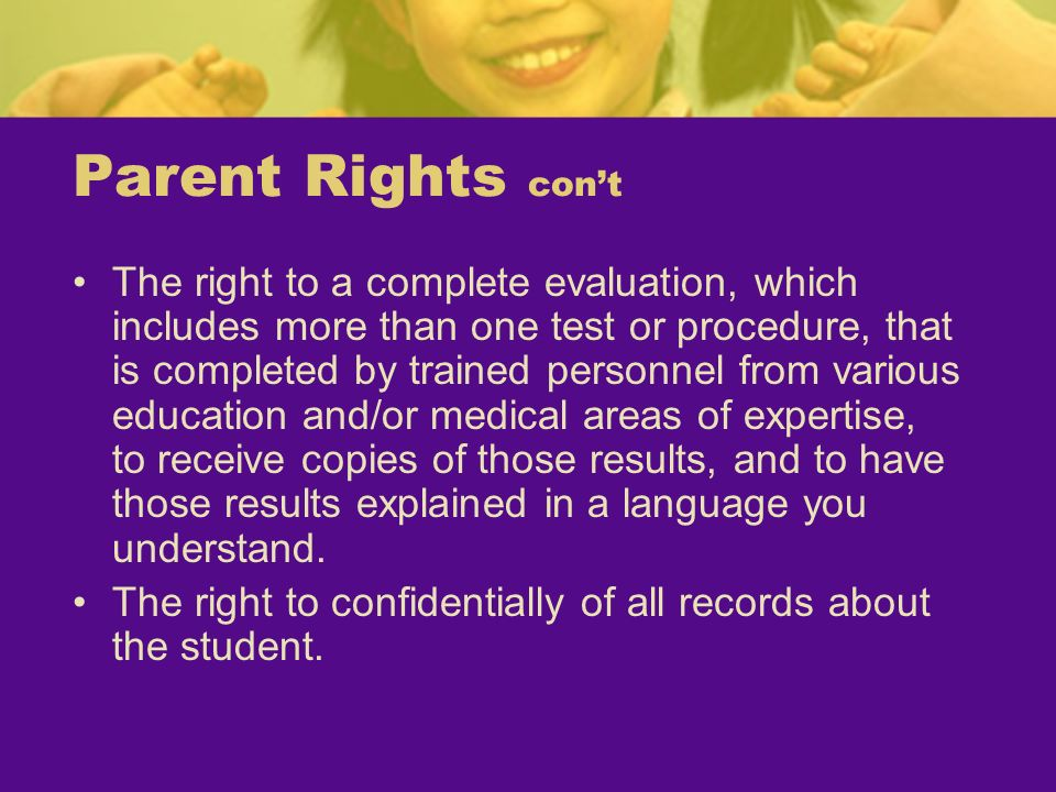 Parent Rights con't