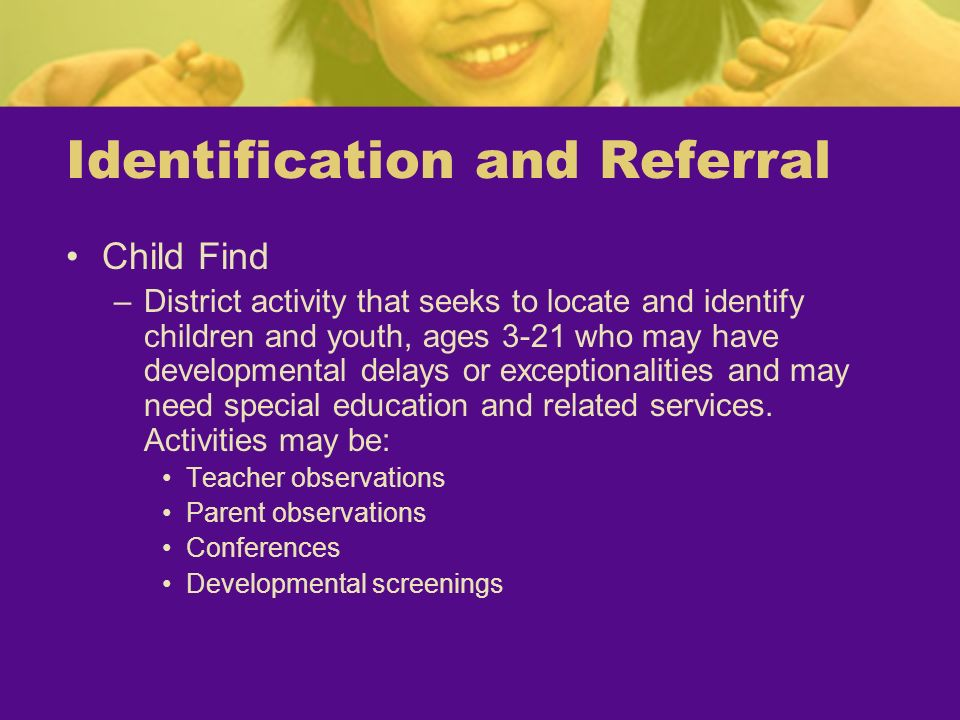 Identification and Referral