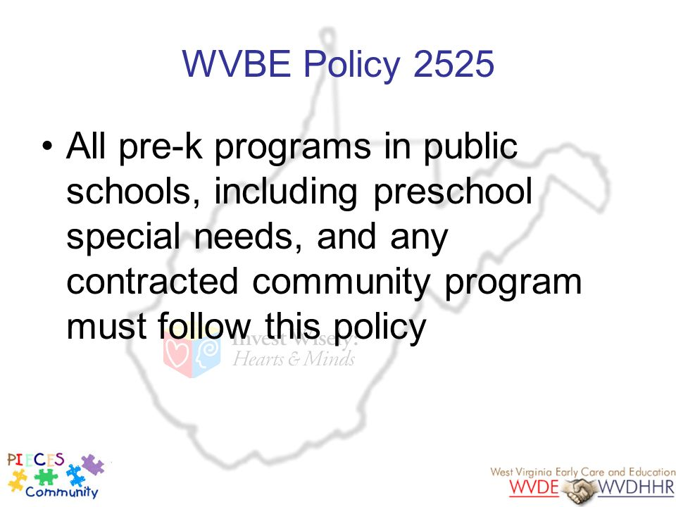 WVBE Policy 2525