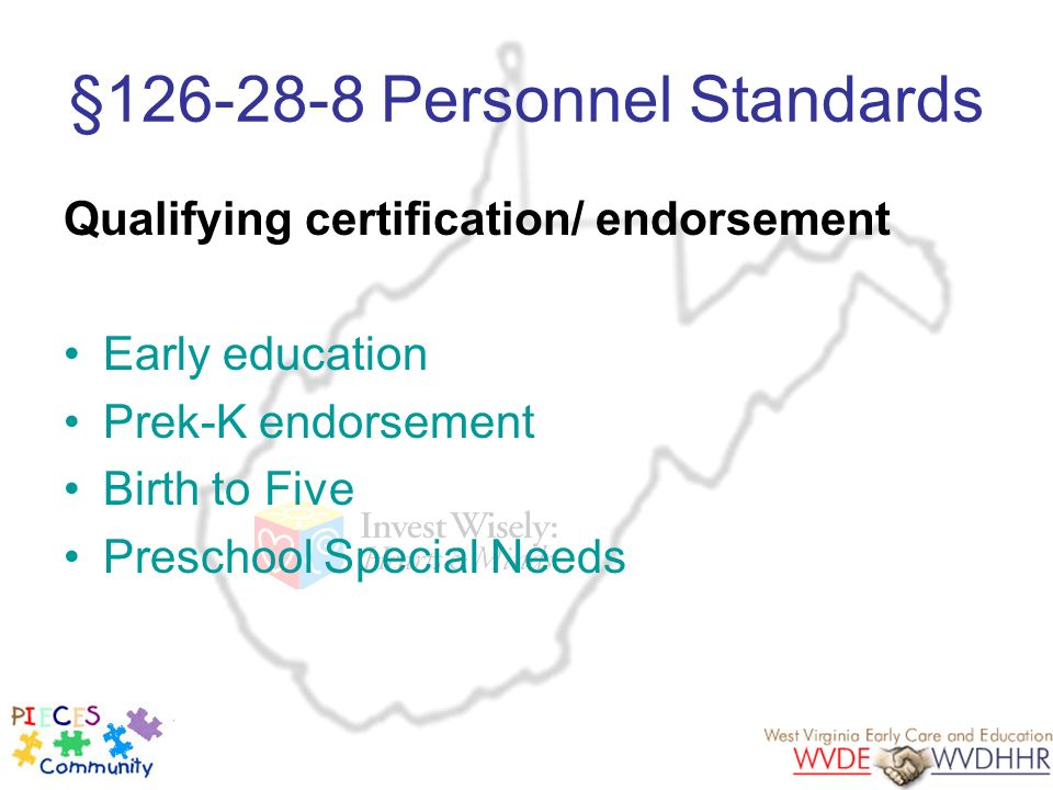 §126-28-8 Personnel Standards
