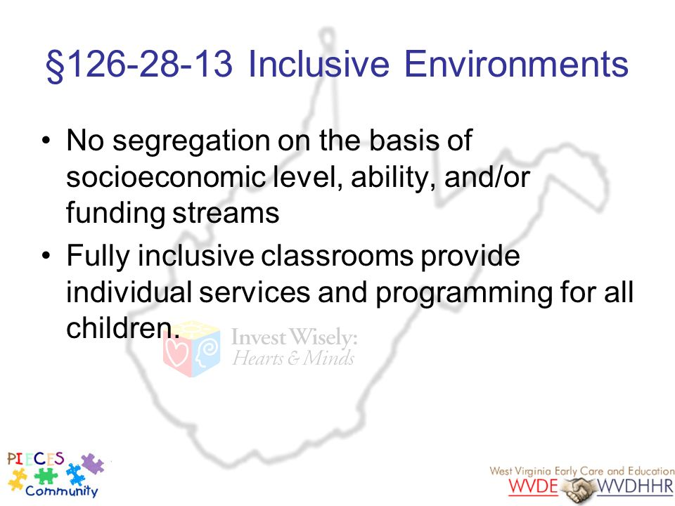 §126-28-13 Inclusive Environments
