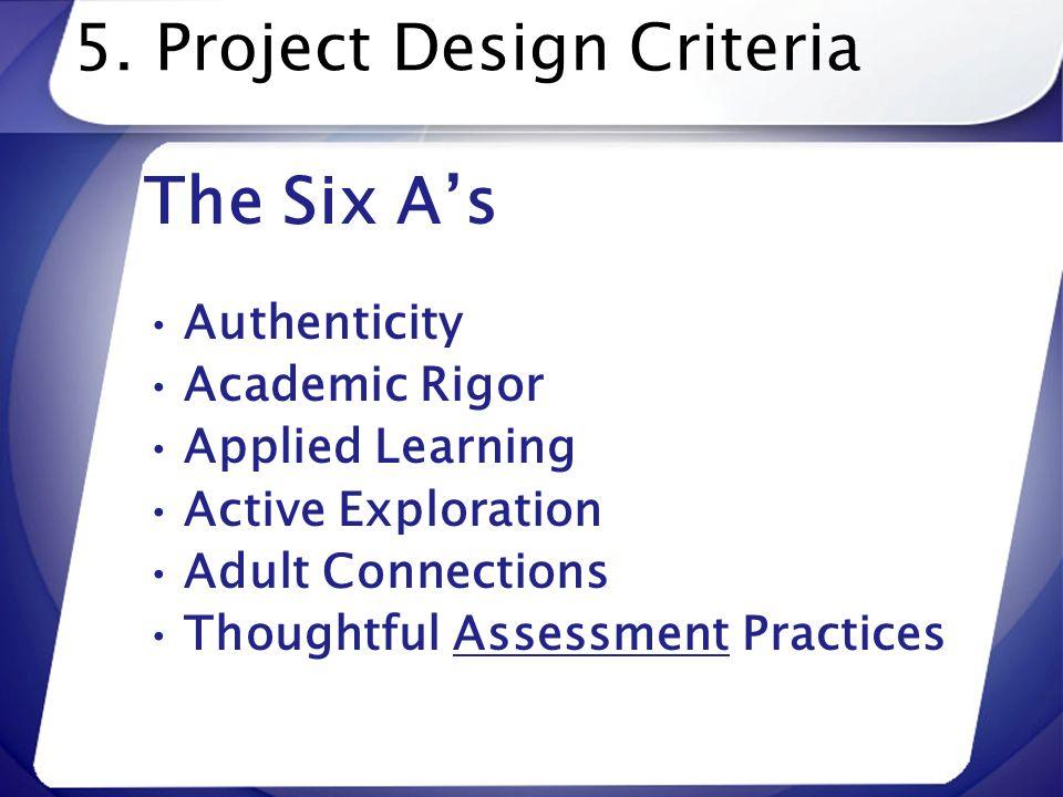5. Project Design Criteria