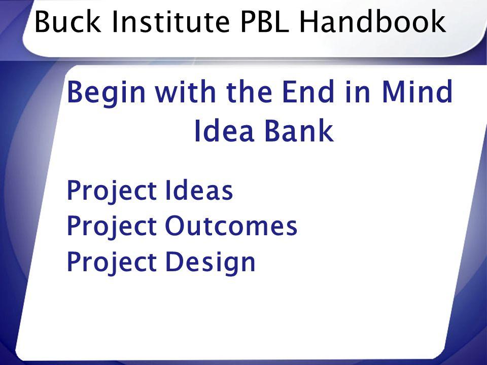 Buck Institute PBL Handbook
