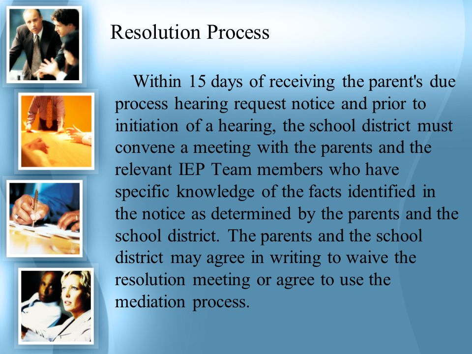 Resolution Process