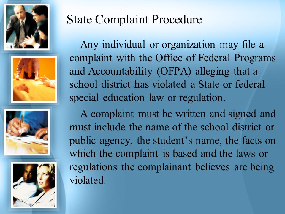 State Complaint Procedure