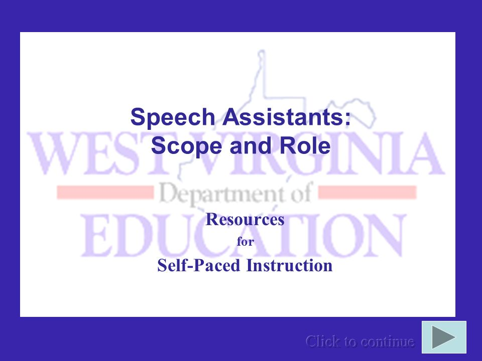 Speech Assistants: Scope and Role