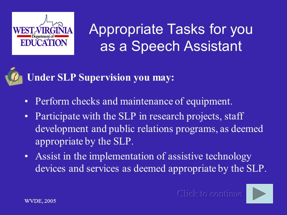 Appropriate Tasks for you as a Speech Assistant