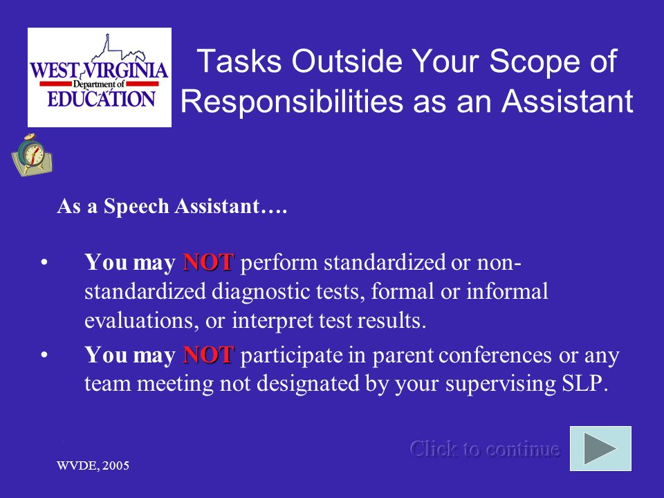 Tasks Outside Your Scope of Responsibilities as an Assistant