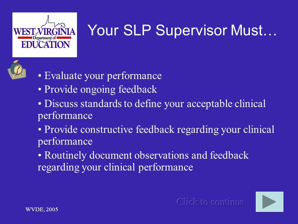 Your SLP Supervisor Must…