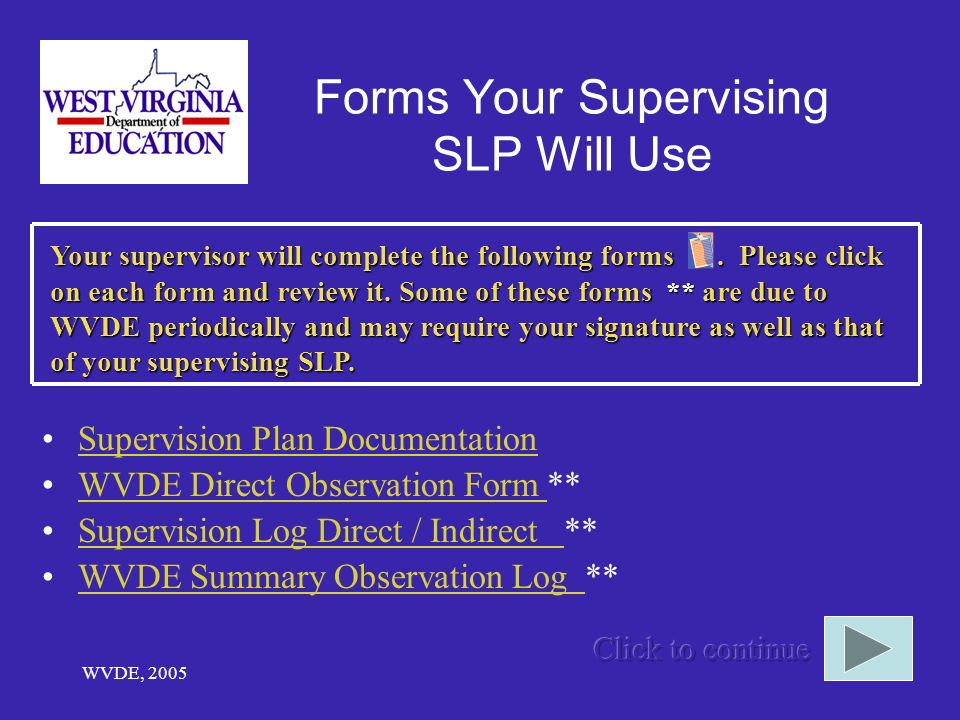 Forms Your Supervising SLP Will Use