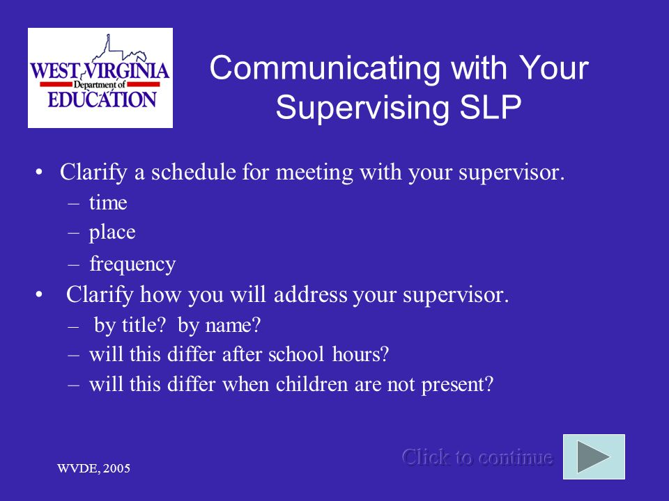 Communicating with Your Supervising SLP