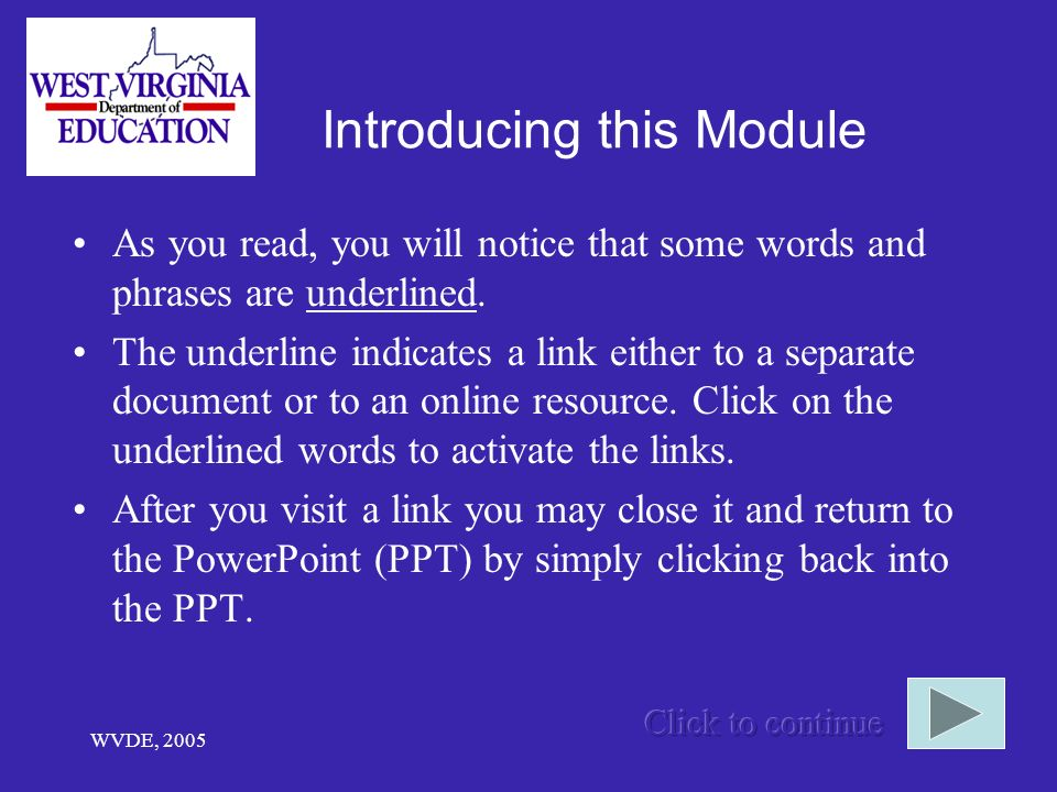 Introducing this Module