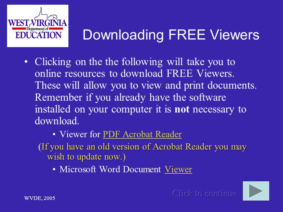 Downloading FREE Viewers