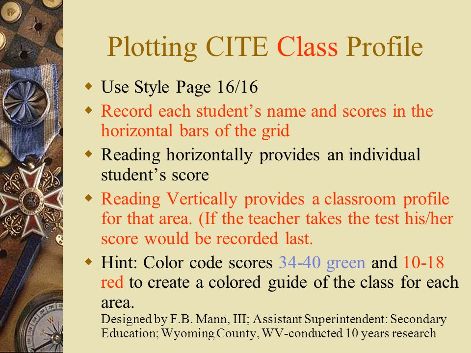 Plotting CITE Class Profile