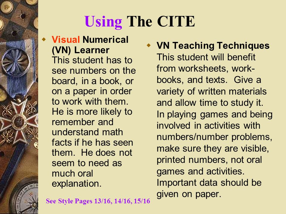 Using The CITE