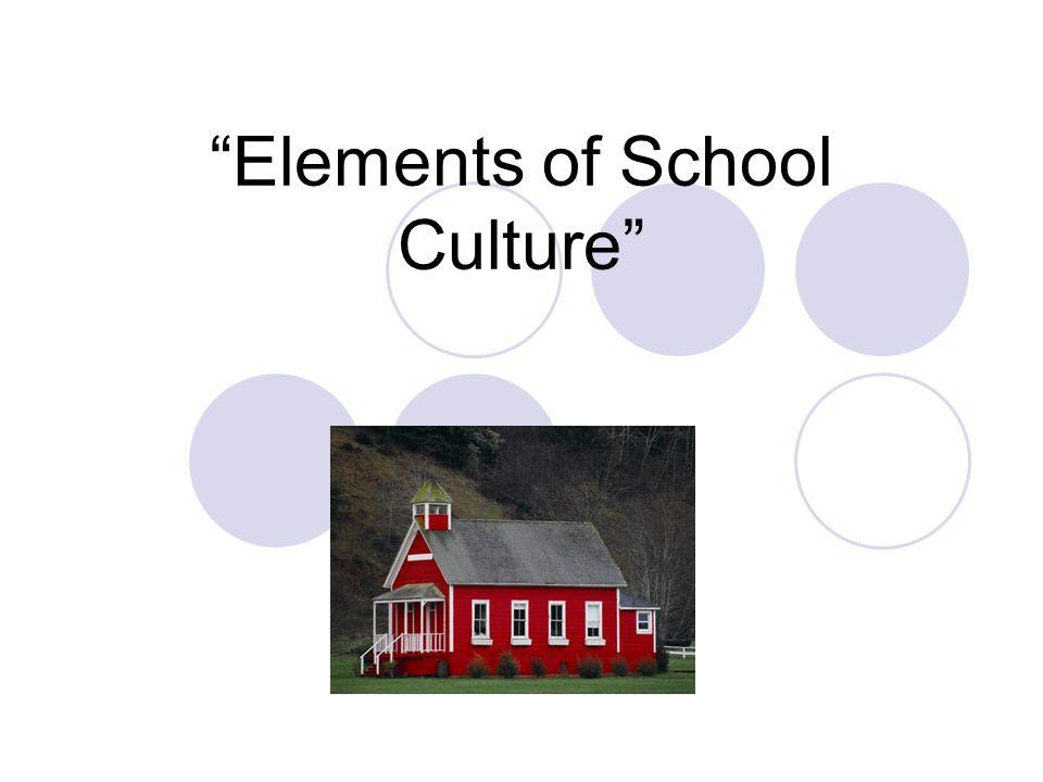 Elements of School Culture